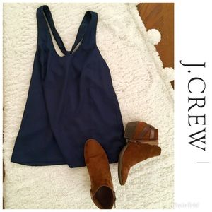 Navy Blue J Crew Career Tank